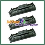 HP 12X Q2612X High Yield Compatible Toner Cartridges - 3 Piece