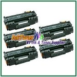 HP 53X Q7553X High Yield Compatible Toner Cartridges - 5 Piece