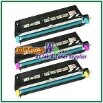 Lexmark X560 Cyan, Magenta, Yellow High Yield Compatible Toner Cartridges - 3 Piece Combo