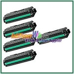 Toner Cartridge Compatible with Samsung CLT-K506L CLT-C506L CLT-M506L CLT-Y506L High Yield - 5 Piece Combo