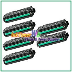 Toner Cartridge Compatible with Samsung CLT-K506L CLT-C506L CLT-M506L CLT-Y506L High Yield - 6 Piece Combo