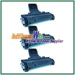 Toner Cartridge Compatible with Samsung MLT-D108S - 3 Piece