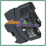 Brother LC61BK Compatible Black ink Cartridge -2 Piece