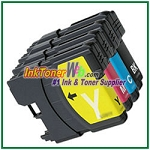 Brother LC65 High Yield Compatible ink Cartridges - 4 Piece Combo