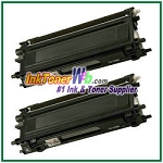 Brother TN115BK High Yield Compatible Black Toner Cartridges - 2 Piece