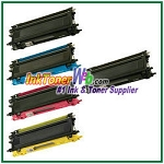 Brother TN115BK, TN115C, TN115M, TN115Y High Yield Compatible Toner Cartridges - 5 Piece Combo