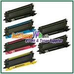 Brother TN115BK, TN115C, TN115M, TN115Y High Yield Compatible Toner Cartridges - 6 Piece Combo