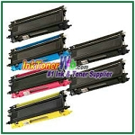 Brother TN210BK, TN210C, TN210M, TN210Y High Yield Compatible Toner Cartridges - 6 Piece Combo