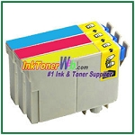 Epson 124 T124220-T124420 Compatible ink Cartridges - 3 Piece Combo