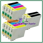 Epson 60 T060120-T060420 Compatible ink Cartridges - 10 Piece Combo