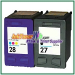 HP 27 28 Compatible ink Cartridges - 2 Piece Combo