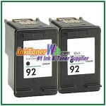 HP 92 C9362WN Compatible Black ink Cartridge -2 Piece