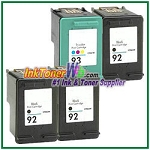 HP 92 93 Compatible ink Cartridges - 4 Piece Combo
