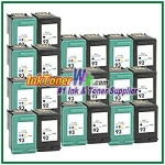 HP 92 93 Compatible ink Cartridges - 20 Piece Combo