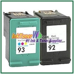 HP 92 93 Compatible ink Cartridges - 2 Piece Combo