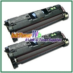HP 121A C9700A Black Compatible Toner Cartridges  - 2 Piece