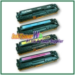 HP 125A CB540-43A Compatible Toner Cartridges - 4 Piece Combo