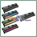 HP 122A Q3960-63A Compatible Toner Cartridges - 5 Piece Combo