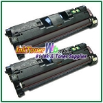 HP 122A Q3960A Black Compatible Toner Cartridge - 2 Piece
