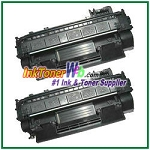 HP CE505XD 05X High Yield Compatible Toner Cartridges - Dual Pack