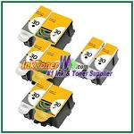 Kodak 30 Compatible ink Cartridges - 8 Piece Combo