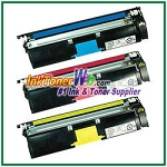 Konica Minolta 1710587-007, -006, -005 High Yield Compatible Toner Cartridges ( for magicolor 2400/2500 ) - 3 Piece Combo