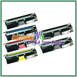 Konica Minolta 1710587-004, -007, -006, -005 High Yield Compatible Toner Cartridges ( for magicolor 2400/2500 ) - 6 Piece Combo
