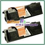 Kyocera Mita TK-132 (TK132) Black Compatible Toner Cartridges - 2 Piece
