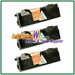 Kyocera Mita TK-132 (TK132) Black Compatible Toner Cartridges - 3 Piece