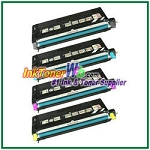 Lexmark X560 Black, Cyan, Magenta, Yellow High Yield Compatible Toner Cartridges - 4 Piece Combo