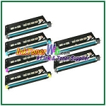 Lexmark X560 Black, Cyan, Magenta, Yellow High Yield Compatible Toner Cartridges - 6 Piece Combo