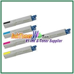 OKI Data 43459301-04 High Yield Compatible Toner Cartridges for C3400n/C3530n MFP/C3600n/MC360n MFP - 5 Piece Combo