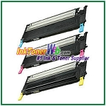 Toner Cartridge Compatible with Samsung CLP310/315 CLT-C409S CLT-M409S CLT-Y409S High Yield - 3 Piece Combo