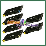 Toner Cartridge Compatible with Samsung CLP-510D7K CLP-510D5C CLP-510D5M CLP-510D5Y High Yield - 6 Piece Combo