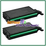 Black Toner Cartridge Compatible with Samsung CLP-620/670 CLT-K508L High Yield - 2 Piece