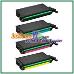 Toner Cartridge Compatible with Samsung CLT-K508L CLT-C508L CLT-M508L CLT-Y508L High Yield - 4 Piece Combo