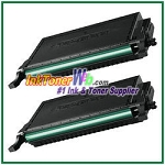 Black Toner Cartridge Compatible with Samsung CLP-K660B - 2 Piece