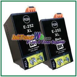 Epson 252XL T252XL120 Compatible Black ink Cartridge -2 Piece