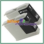 Brother LC51BK Compatible Black ink Cartridge -2 Piece