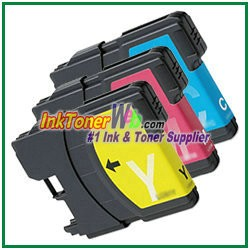Brother LC65 High Yield Compatible ink Cartridges - 3 Piece Combo