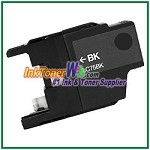 Brother LC75BK (XL Series) High Yield Compatible Black ink Cartridge