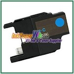 Brother LC75C (XL Series) High Yield  Compatible Cyan ink Cartridge