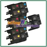 Brother LC75 (XL Series) High Yield Compatible ink Cartridges - 14 Piece Combo