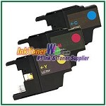 Brother LC75 (XL Series) High Yield Compatible ink Cartridges - 3 Piece Combo