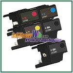 Brother LC75 (XL Series) High Yield Compatible ink Cartridges - 5 Piece Combo