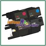 Brother LC75 (XL Series) High Yield Compatible ink Cartridges - 4 Piece Combo