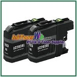 Brother LC203BK XL Compatible Black ink Cartridge -2 Piece