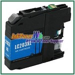 Brother LC203C XL Compatible Cyan ink Cartridge