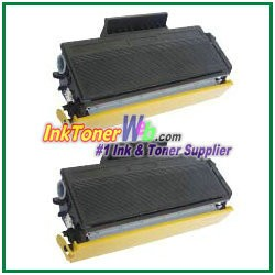 Brother TN580 High Yield Compatible Toner Cartridges - 2 Piece