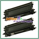 Brother TN110BK Compatible Black Toner Cartridge (High Yield) - 2 Piece